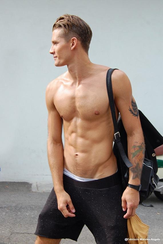 Andrey Zakharov Male model off duty. Street Style