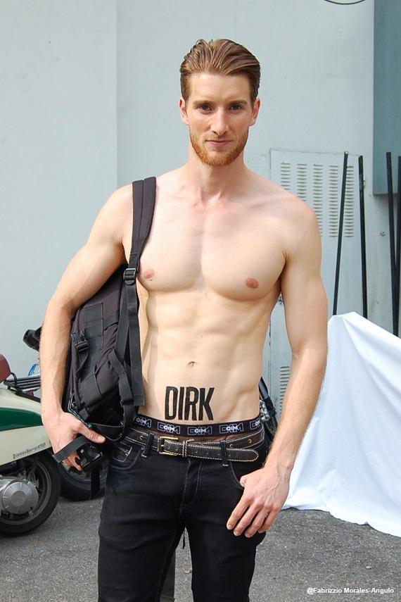 Male model off duty. Street Style