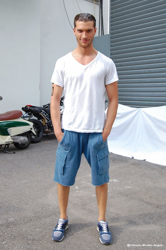 Aurelien Muller Male model off duty. Street Style