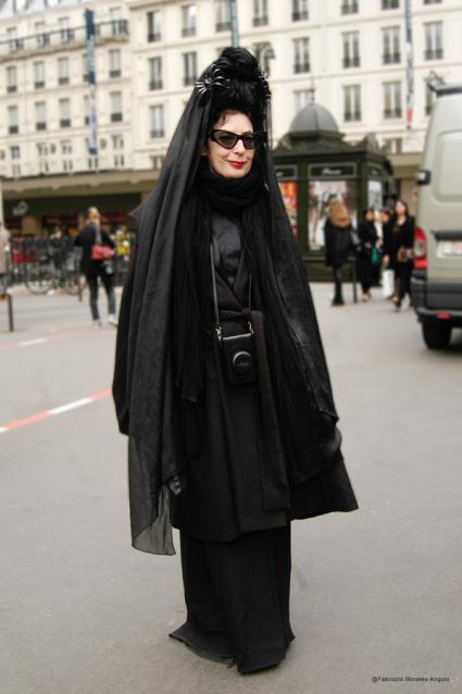 Diane Pernet Street Style